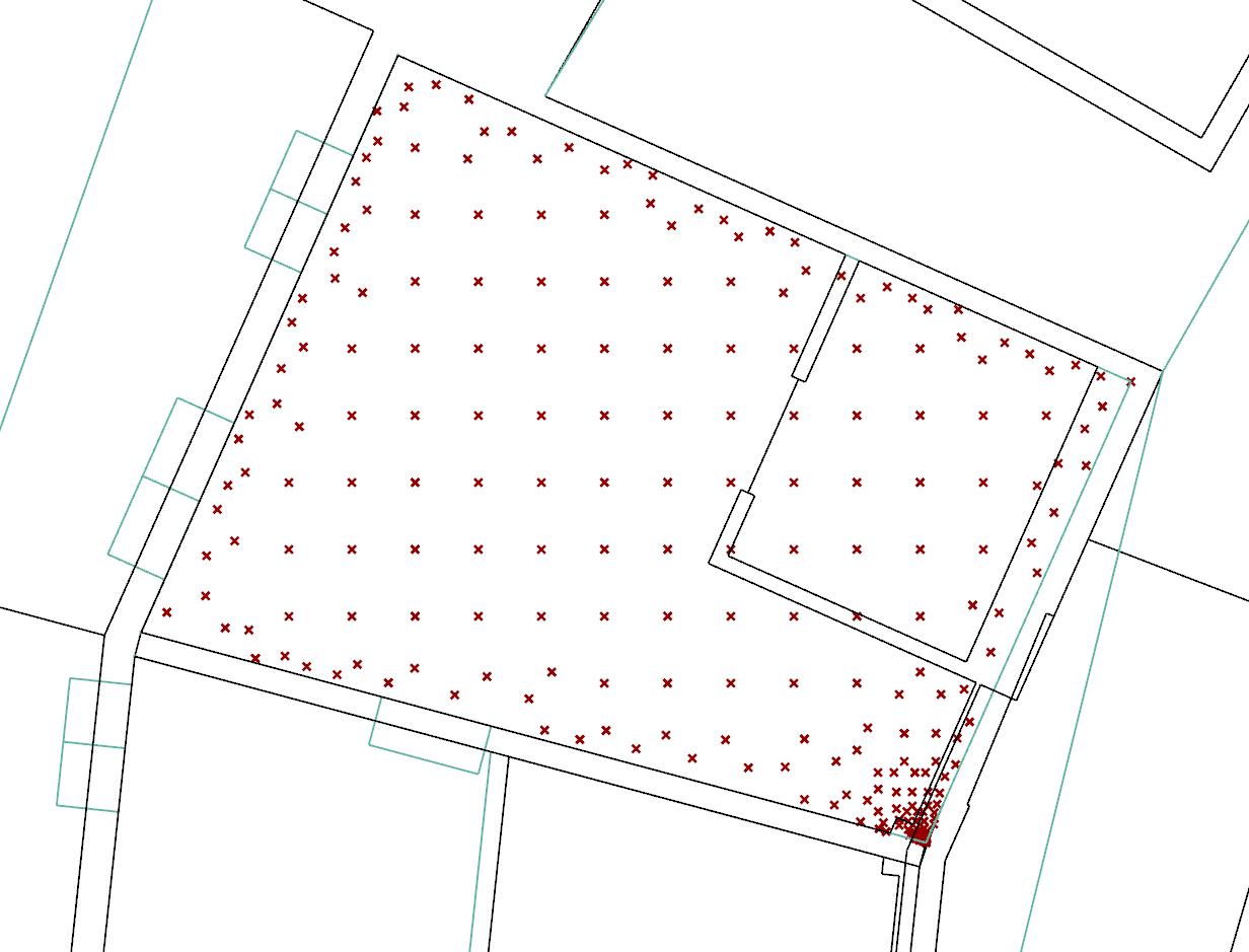 Generate test points - Irregular grid - honeybee - Ladybug