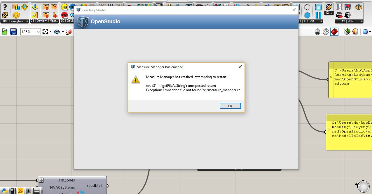 Open Openstudio Error - honeybee - Ladybug Tools | Forum
