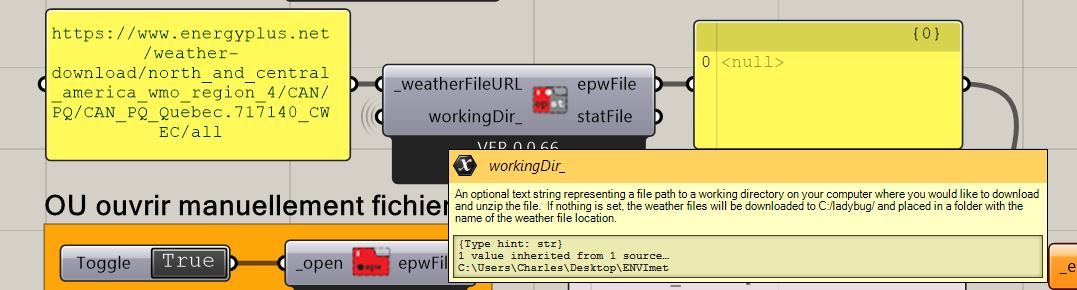 Ladybug_Open EPW and STAT Weather files | WorkingDir issue