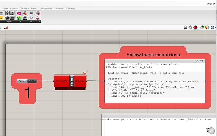 LBt installation new erro