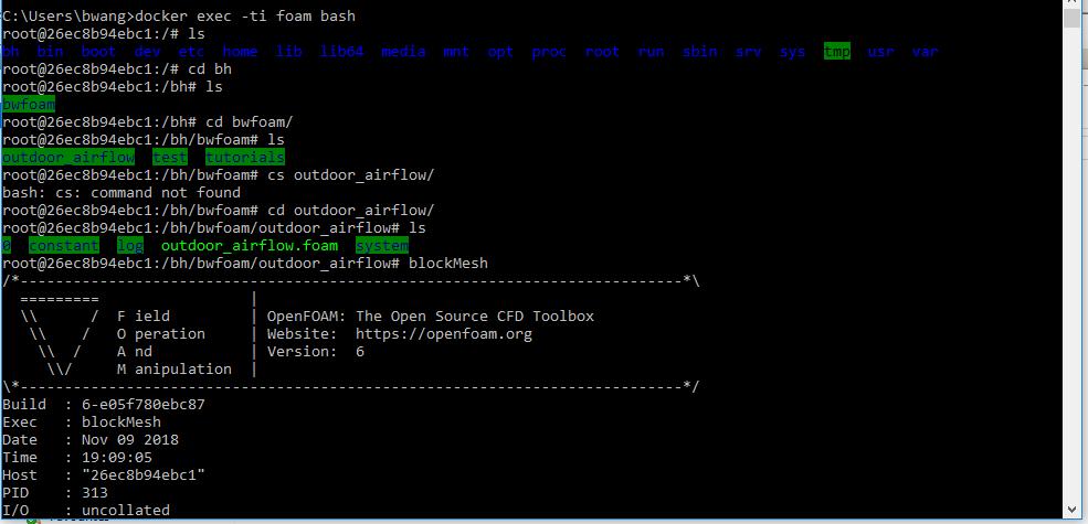 Running Butterfly in Docker (not OpenFOAM for Windows